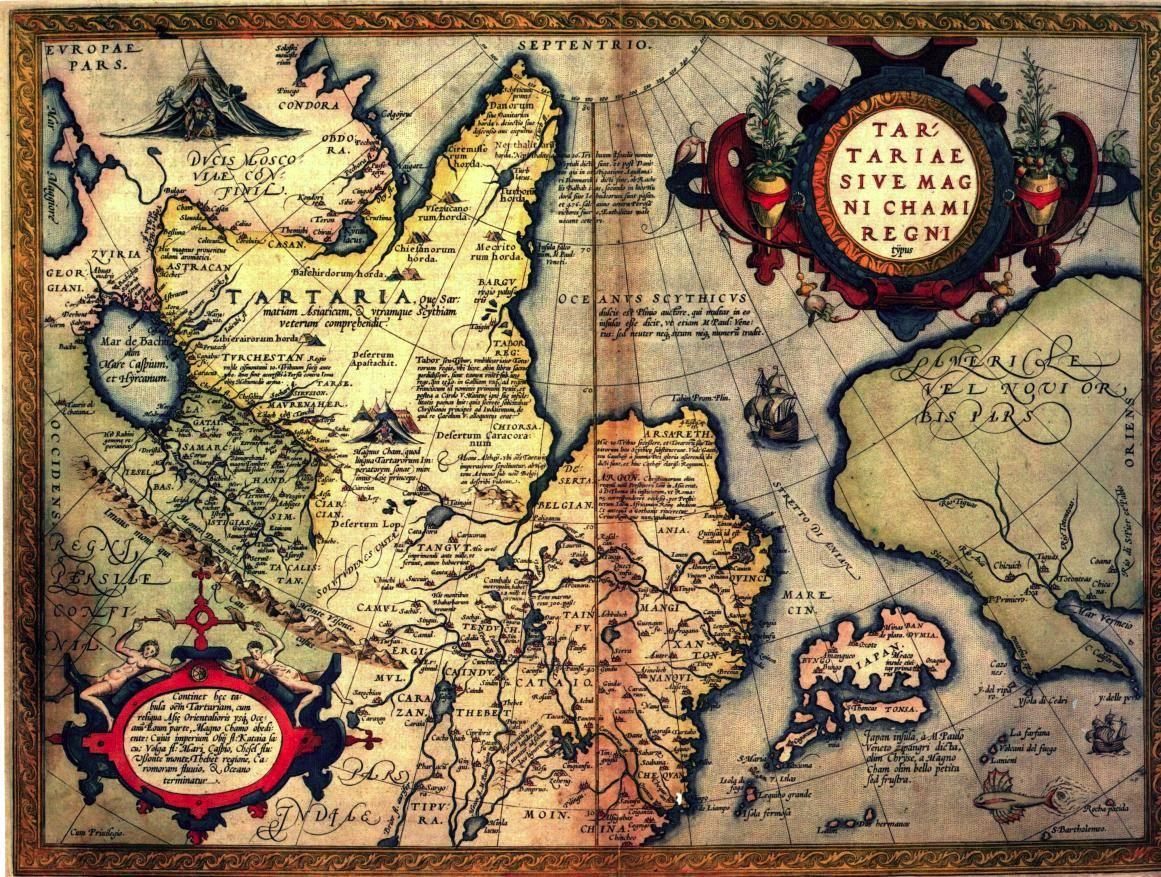 карта Тартарии Ортелия от 1570 год