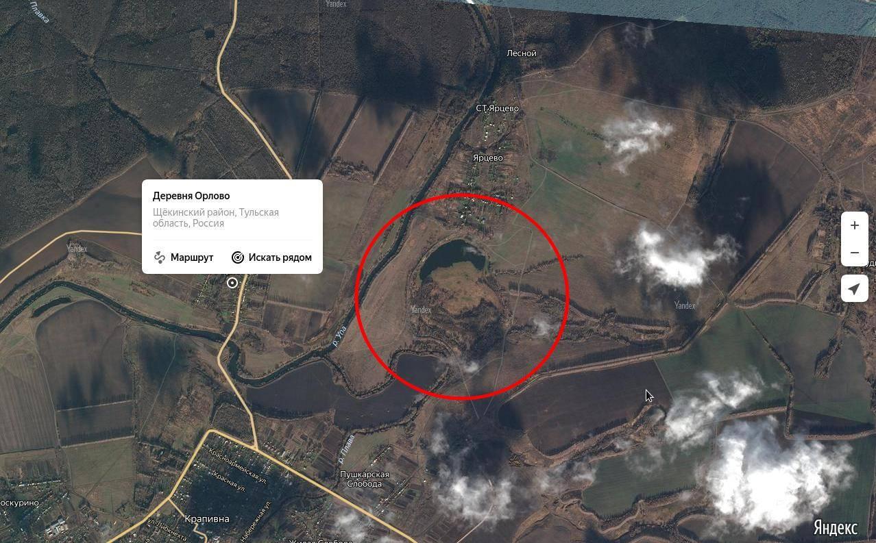 Ядерная воронка в Тульской области