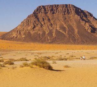 следы человека в пустыне Нефуд