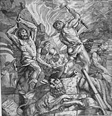 """Кузница циклопов"", голландский гравюра XVI века по картине Тициана. /en.wikipedia.org/"