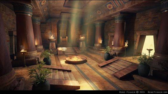 Как мог выглядеть один из малых храмов Солнца./pinterest.ru/