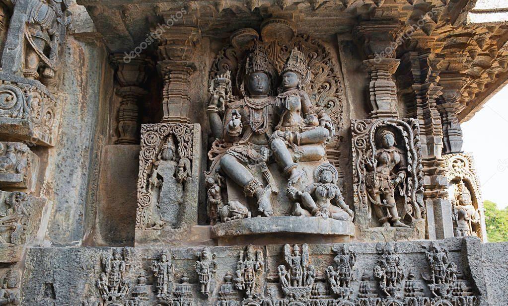 санскрит язык богов Шива и Парвати