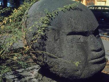 Таинственная каменная голова