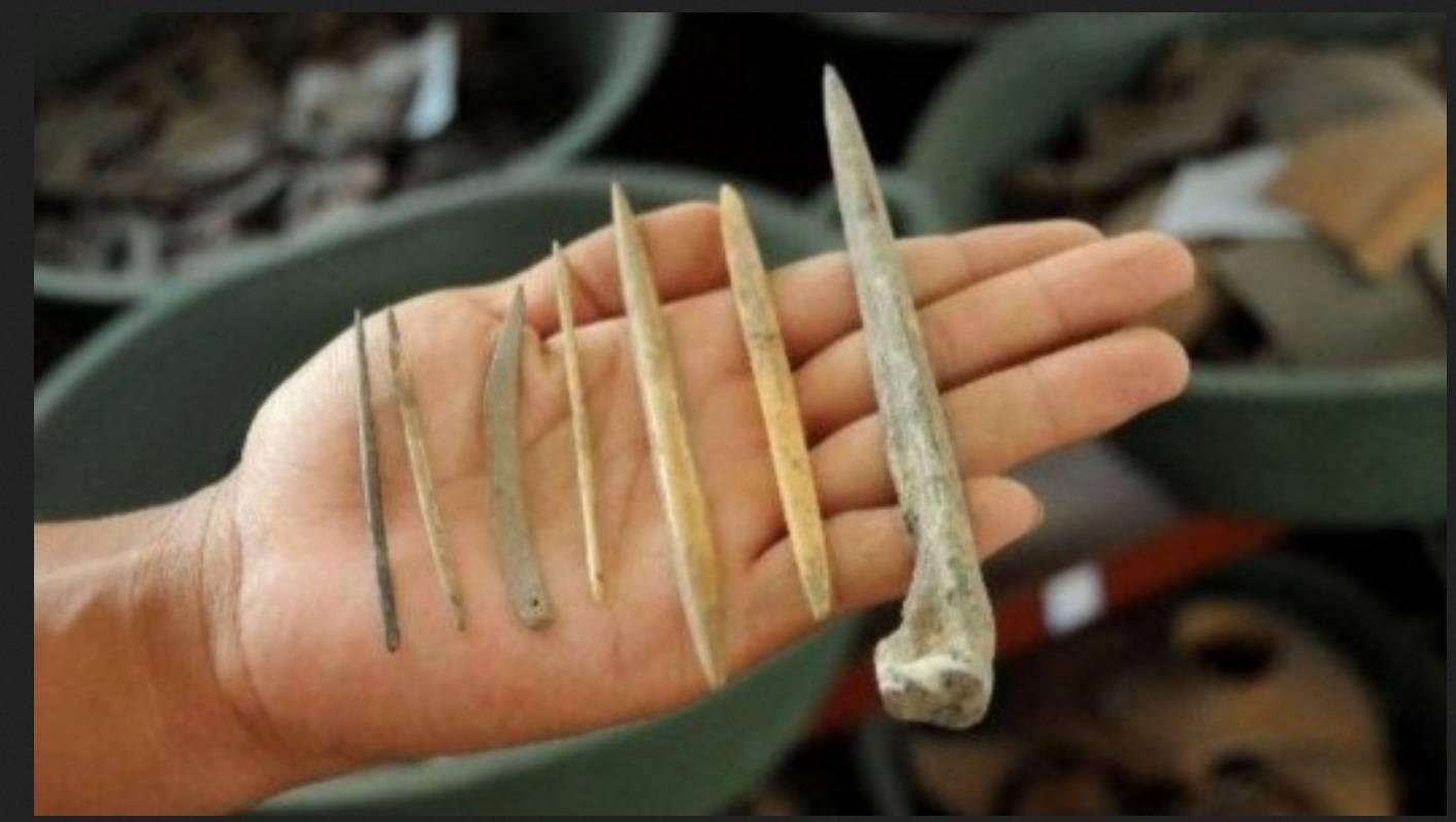 древние костяные иглы