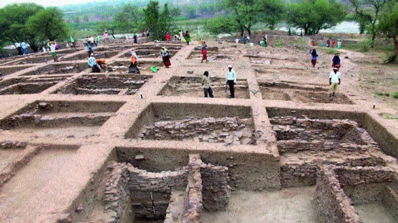 археологические раскопки орудия труда Индия