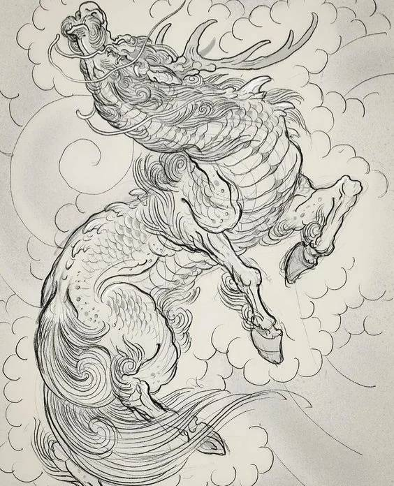 кирин японский единорог Цилинь