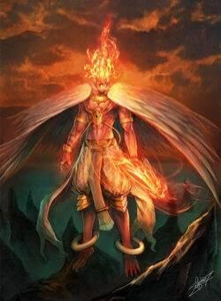 Гаруда - бог птиц. /mythological-creations.fandom.com/