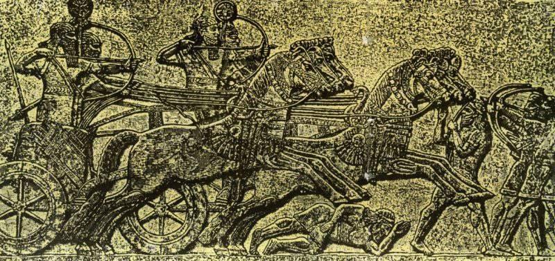 тяжелая ассирийская колесница