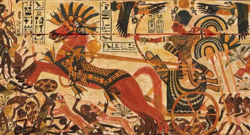 боевая колесница египтян