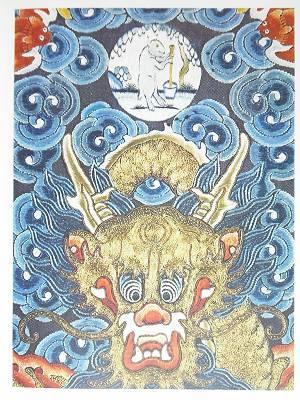 Китайский дракон с лунным кроликом