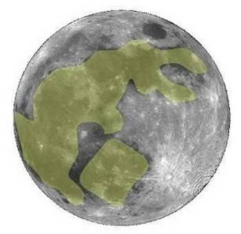 Очертания кролика на лунном диске