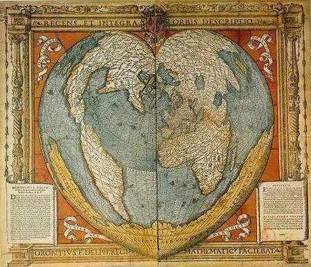 Карта мира Оронития Финея