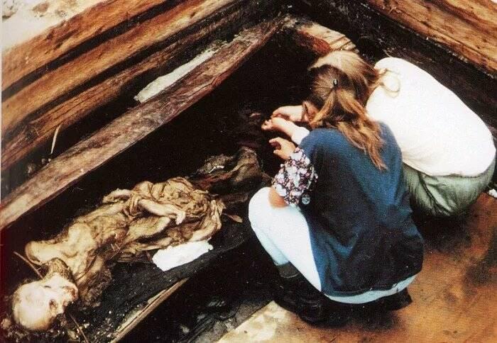 Место захоронения алтайской принцессы.