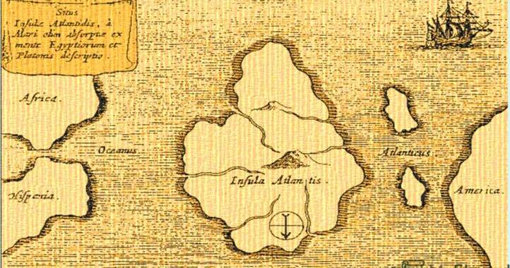 карта Атлантиды