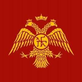 двуглавый орёл. Флаг Византийской империи.