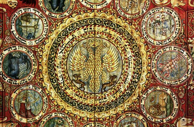 Двуглавый орёл. Тибетская живопись.