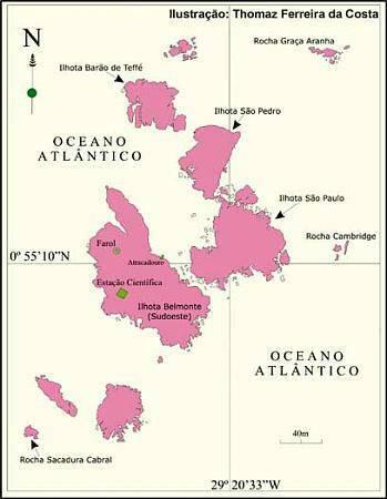 Острова Святых Петра и Павла. http://wikimapia.org