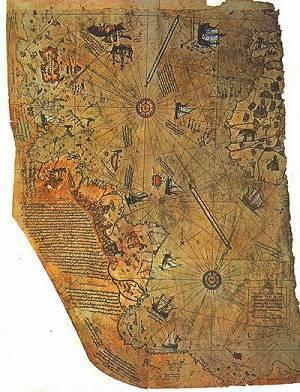 Атлантида карта Пири Рейса