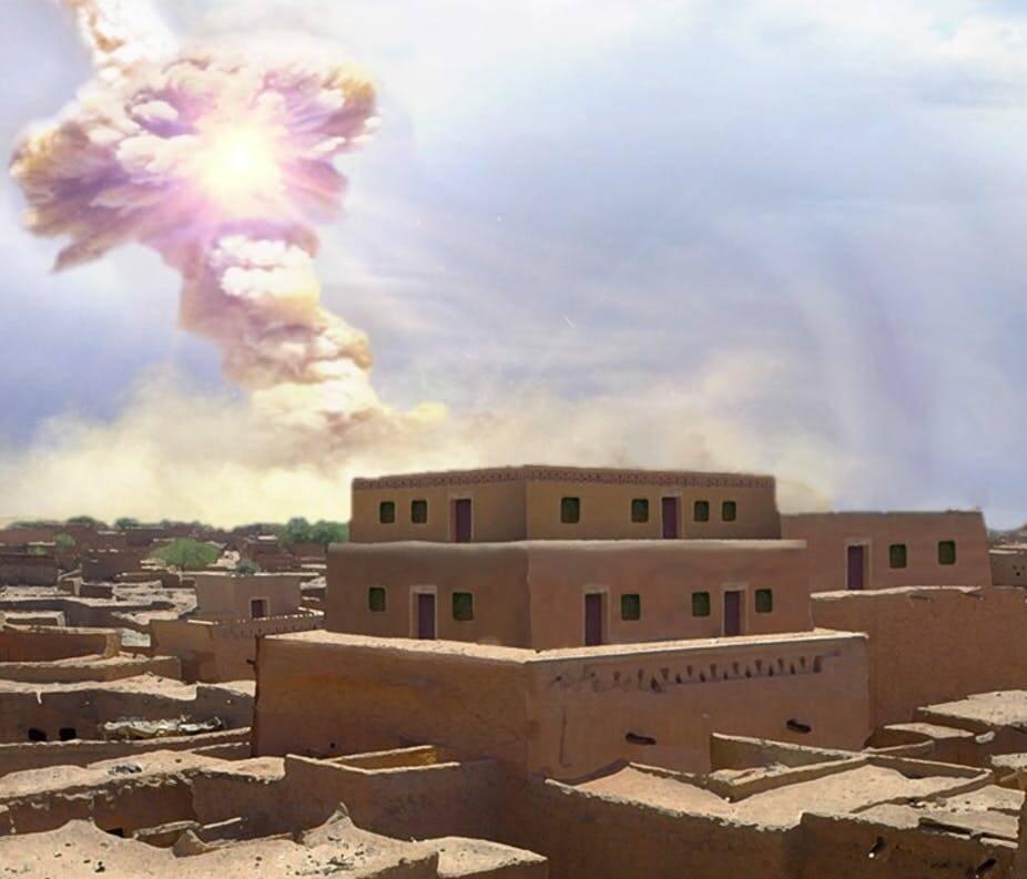 Содом и Гоморру уничтожил взрыв в пару десятков мегатонн