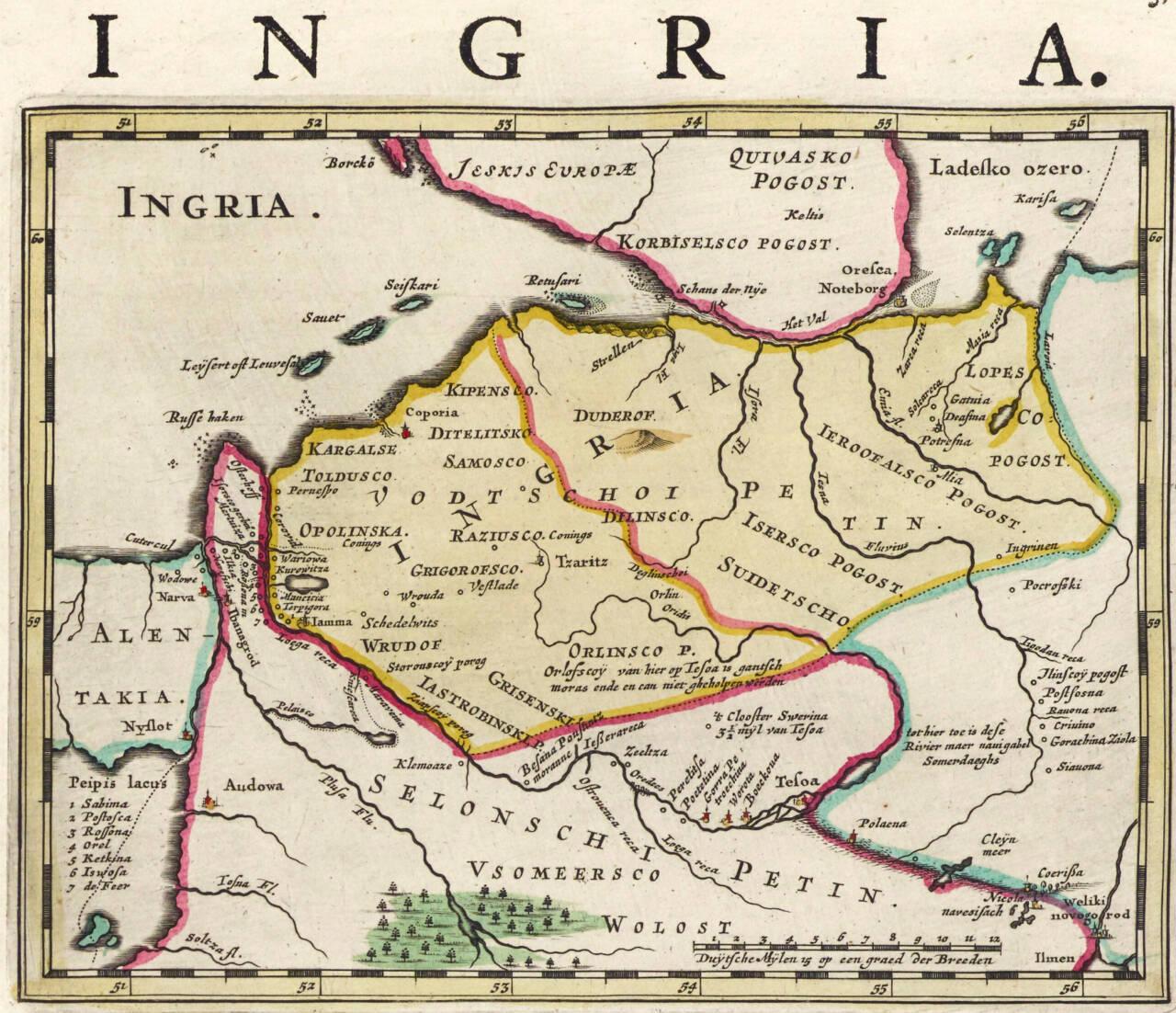 масонская литература карта Ингрии